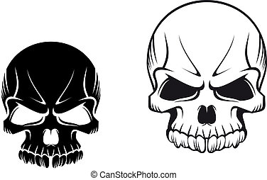Danger evil skulls for tattoo or mascot design
