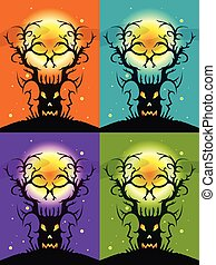 Skulls Tree Illusion - Skulls tree illusion - a mystic tree...