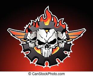 skulls trio motor service in my vision