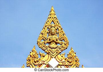 skulptur, in, thailand