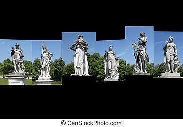 skulptur, statuen