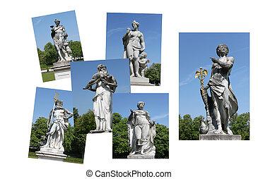 skulptur, statuer