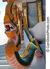skulptur, statyer, -, serpent.