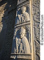 skulpturen, an, kathedrale, von, otranto, provinz, von, lecce, apuli