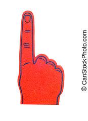 skum, finger, in, röd