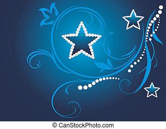 skum fond, med, lysande, stjärnor