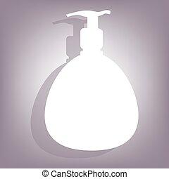 skum, gel, eller, flytande, tvål
