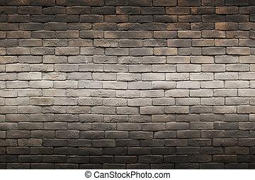 skum grå, tegelsten vägg, bakgrund