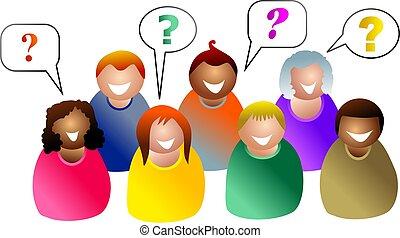 skupina, dotazy