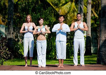 skupina, jóga