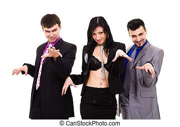 skupina, o, erotický, business národ
