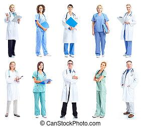 skupina, o, lékařský, doctors.