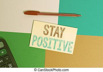 skutečný, studovna, sticker., optimistický, potraviny, čtverec, přístroj, thoughts, lavice, showing, fotografie, positive., business úřadovna, nota, být, noviny, pozdvihnout, showcasing, dílo, utišit, zavázat se