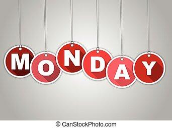 skuwka, czerwony, poniedziałek