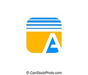 skwer, beletrystyka, początkowy, formułować, projektować, szablon, logo, zaokrąglony
