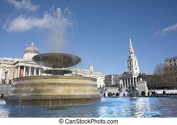 skwer, fontanna, trafalgar