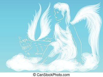 sky, ängel