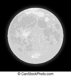 sky., étoilé, moon., stars., vecteur, nuit