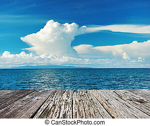 Sky above sea at Bohol, Philippines