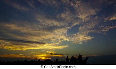 sky after sunset, timelapse