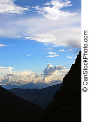 sky and cloud landscapes of himalayas