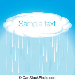 Sky and cloud vector rain - Sky and cloud vector...