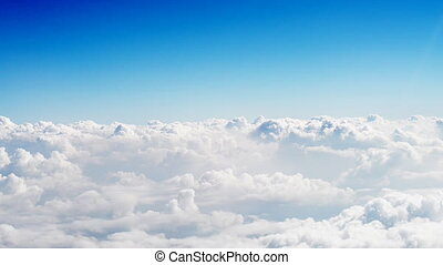Sky and cloud view from the plane. - Sky and cloud view from...
