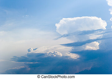 sky and clouds - cloudscape with blue sky and withe clouds