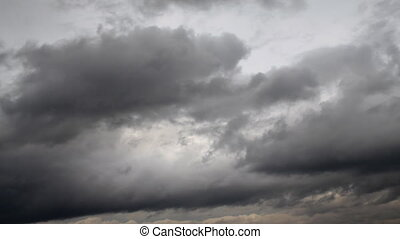 Sky and clouds - Grey clouds.Motion cloud.