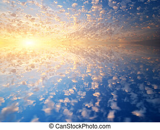Sky and water background