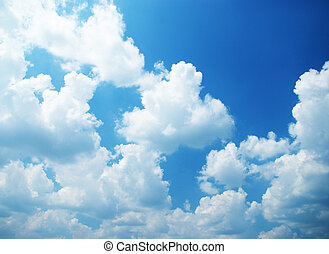 Sky as background - White clouds in a blue sky. Great...