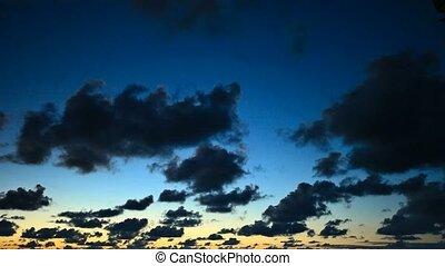 Sky at sunset -  timelapse