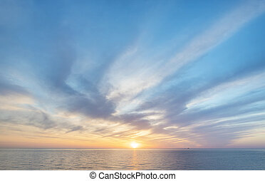 Sky background and sea sunset