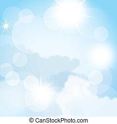 sky background - blue beautiful sky background. vector...