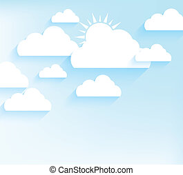 Sky background in flat style