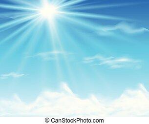Sky background with bright light
