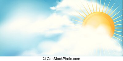 Sky background with bright sun