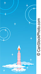 Sky background with candle