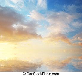 sky, bakgrund, natur