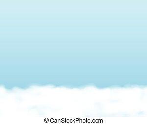 sky, bakgrund., seamless, horisontalt