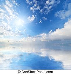 sky, bakgrund, sunset.