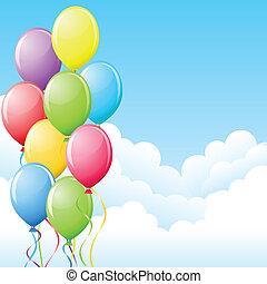 sky., balões