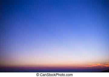 Beautiful Gradient colorful sunset sky