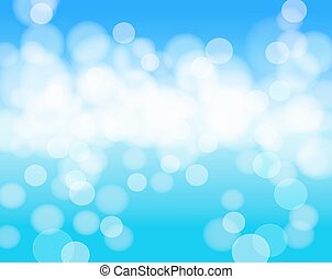 sky blue abstract background with lights effects. vector