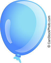 Sky blue ballon icon, cartoon style