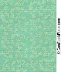 Sky Blue Faint Floral Print on Ribbed Paper Background