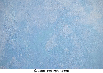 sky blue plaster wall surface