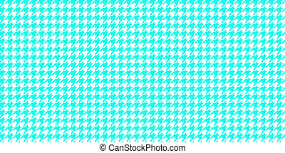 Sky Blue Seamless Houndstooth Pattern Background. Traditional Arab Texture. Fabric Textile Material.