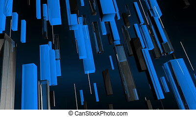 """""""Sky Blue Vertical Straight Lines"""" - """"A graphic 3d rendering..."""