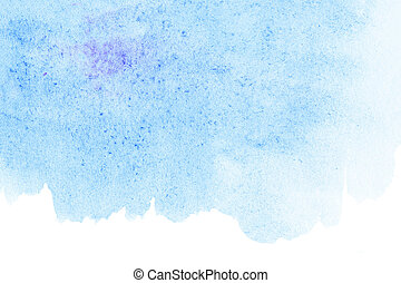 Sky blue watercolor abstract background for your design